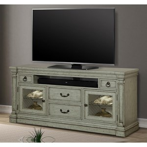 """74"""" TV Console with Power Center and Touch Lighting"""