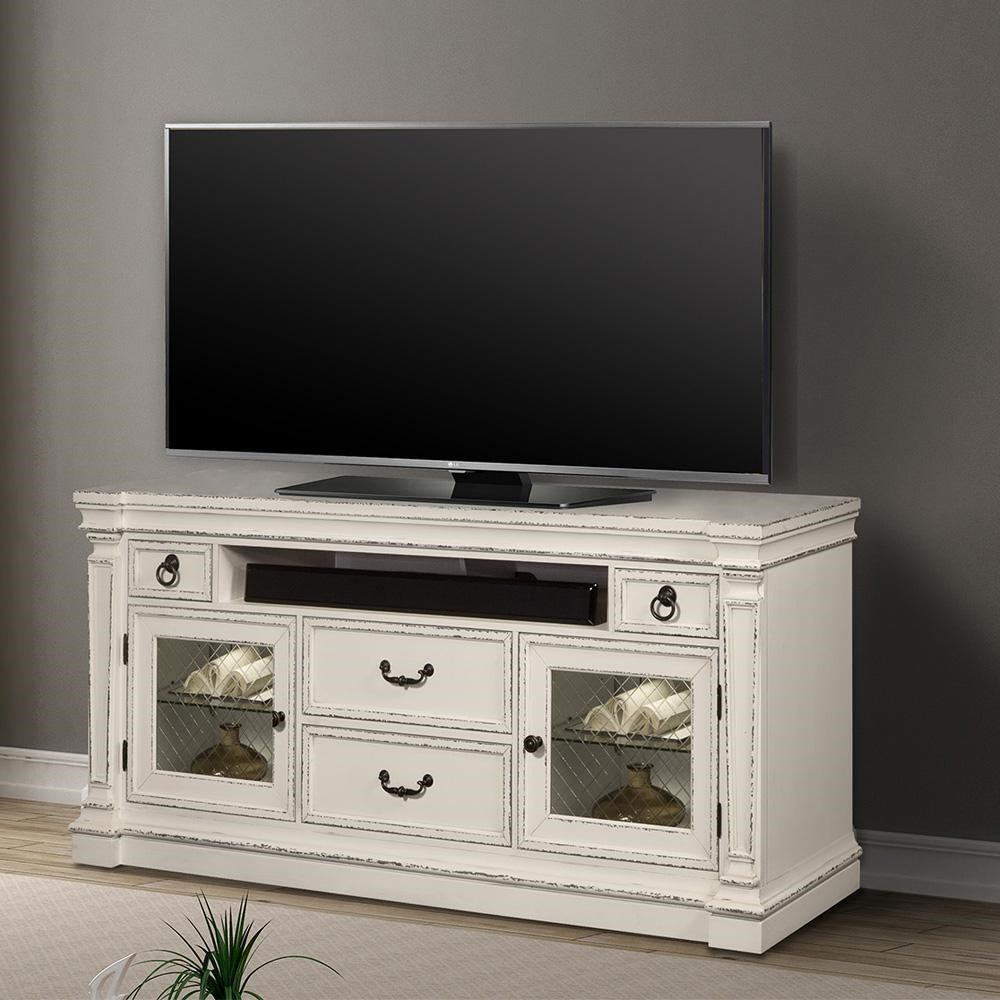 Lancaster 74 in. TV Console with Power Center by Parker House at Zak's Home