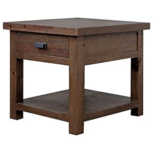 Rustic 1-Drawer End Table