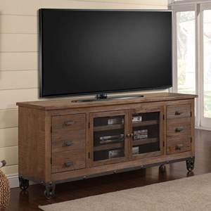 Industrial 76 in. TV Console with Wheels