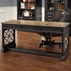"""Transitional 64"""" Writing Desk with  3 Drawers"""