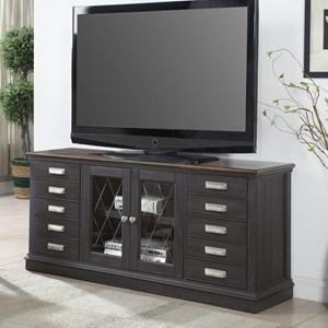 """Transitional 63"""" TV Console with 10 Drawers"""