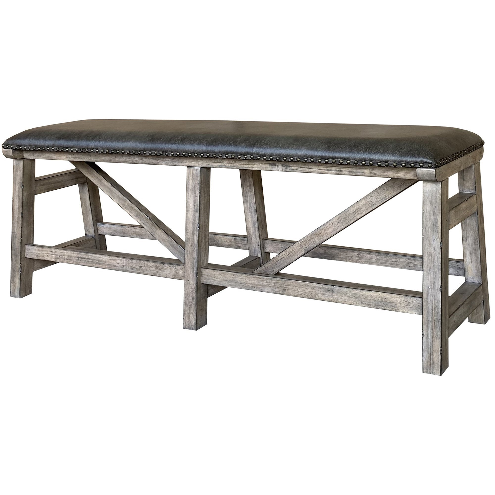 Lodge Rustic Upholstered Counter Bench by Parker House at Bullard Furniture