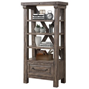 Rustic Lodge-Style Bookcase