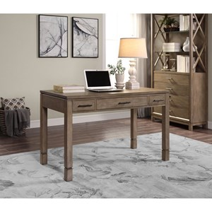 Stationary Leg Desk with Keyboard Drawer