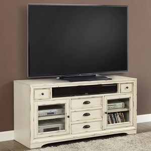 "63"" TV Console with Two Glass Doors"