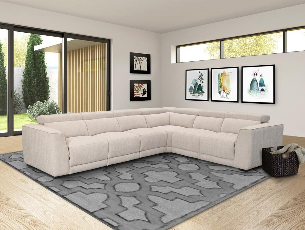 Noho 4-Piece Power Reclining Sectional Sofa by Parker House at Beck's Furniture