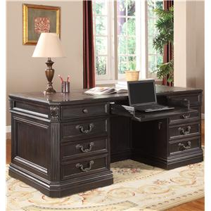 Traditional Double Pedestal Executive Desk