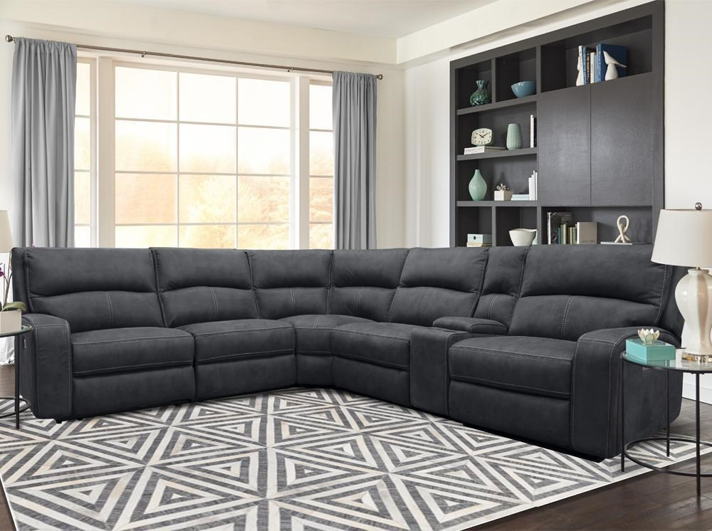 polaris 6 PIECE POWER SECTIONAL by Parker House at Johnny Janosik
