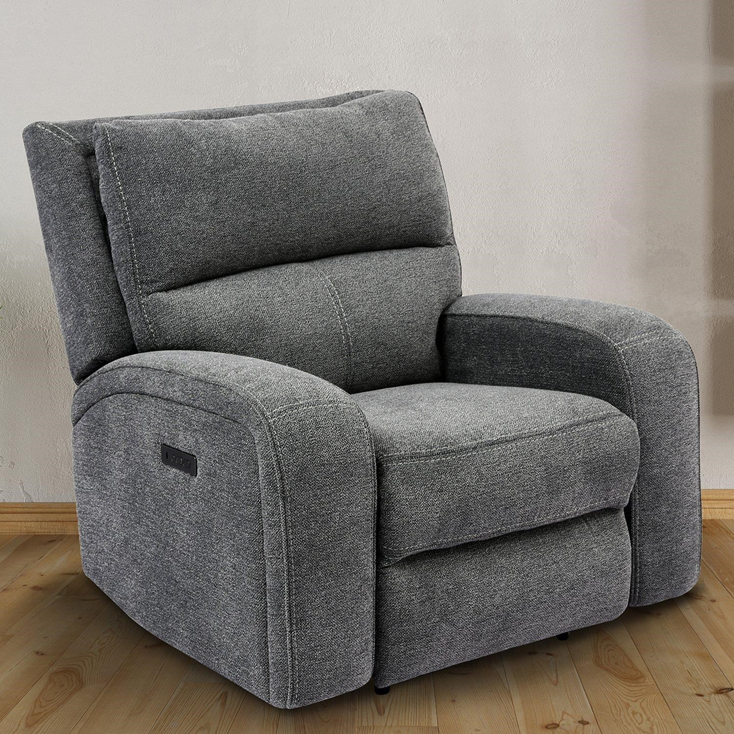 polaris BIZMARK GREY Power Recliner by Parker House at Johnny Janosik