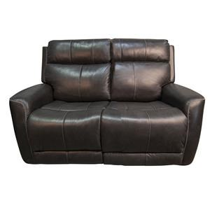 Top Grain Leather Match Power Loveseat with Power Headrest and Lumbar Support