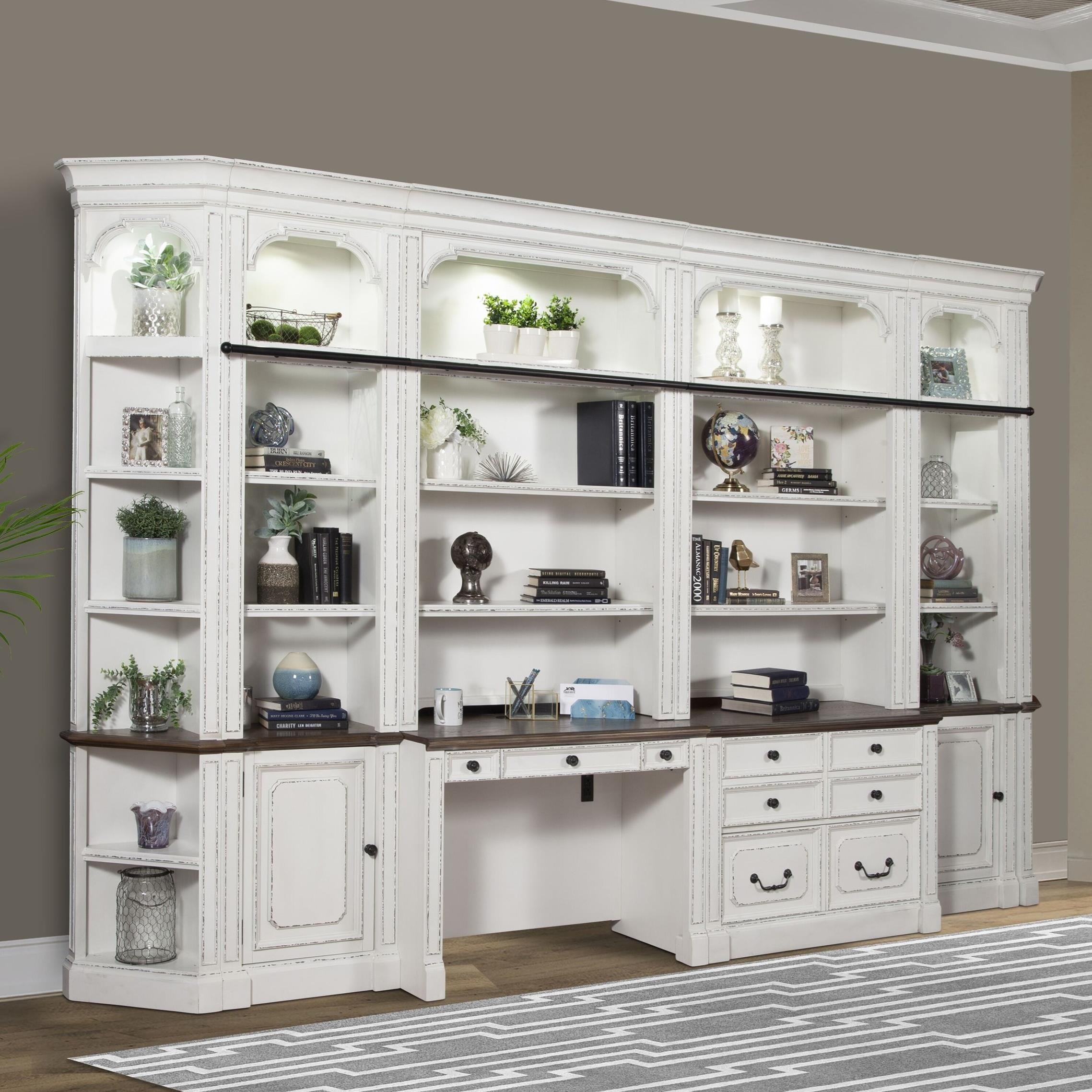 Provence Library Wall Unit by Parker House at Zak's Home