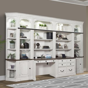 Transitional Two-Tone Library Wall Unit
