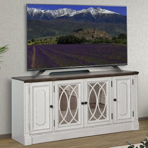 """Relaxed Vintage 63"""" TV Console with Power Center"""