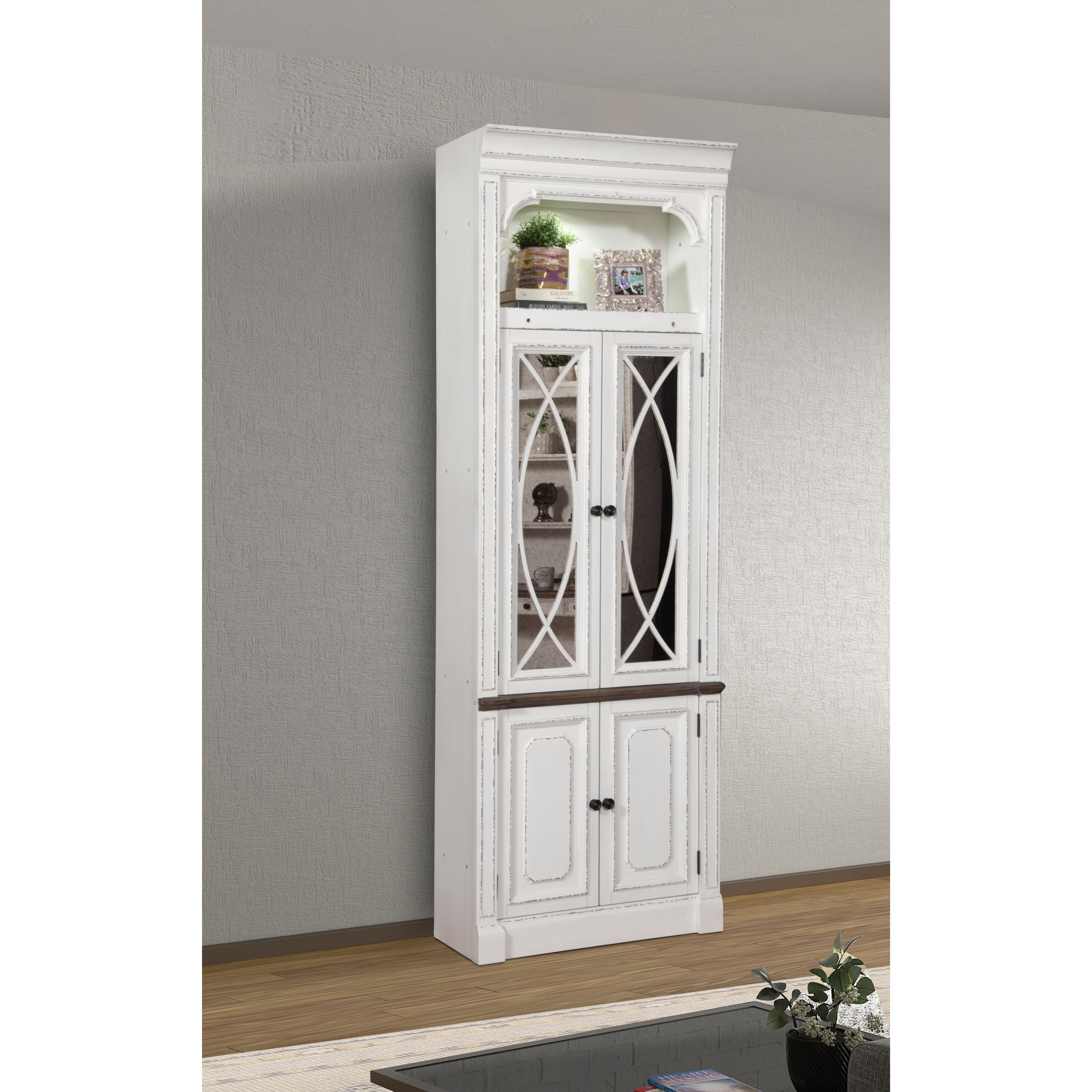 Provence 32 in. Glass Door Cabinet by Parker House at Zak's Home