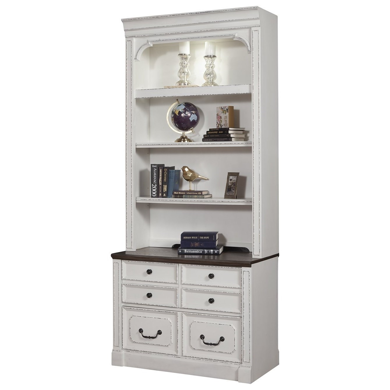 Provence 2pc Lateral File & Hutch by Parker House at Zak's Home