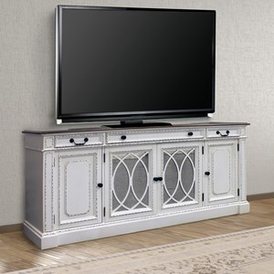 """Relaxed Vintage 76"""" TV Console with Power Center"""