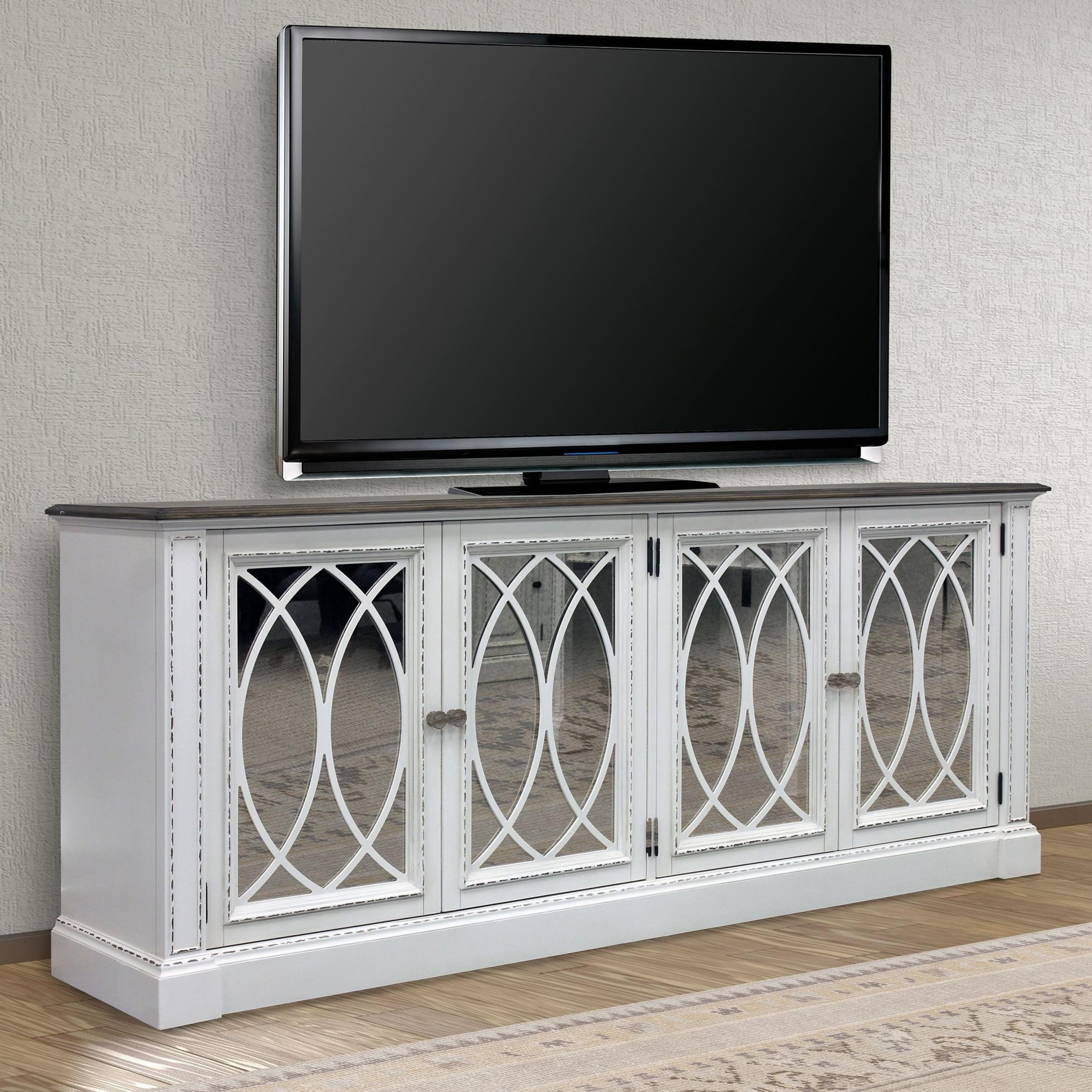 "Provence 84"" TV Console with Power Center by Parker House at Westrich Furniture & Appliances"