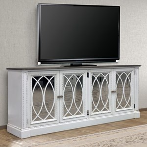 """Relaxed Vintage 84"""" TV Console with Power Center"""