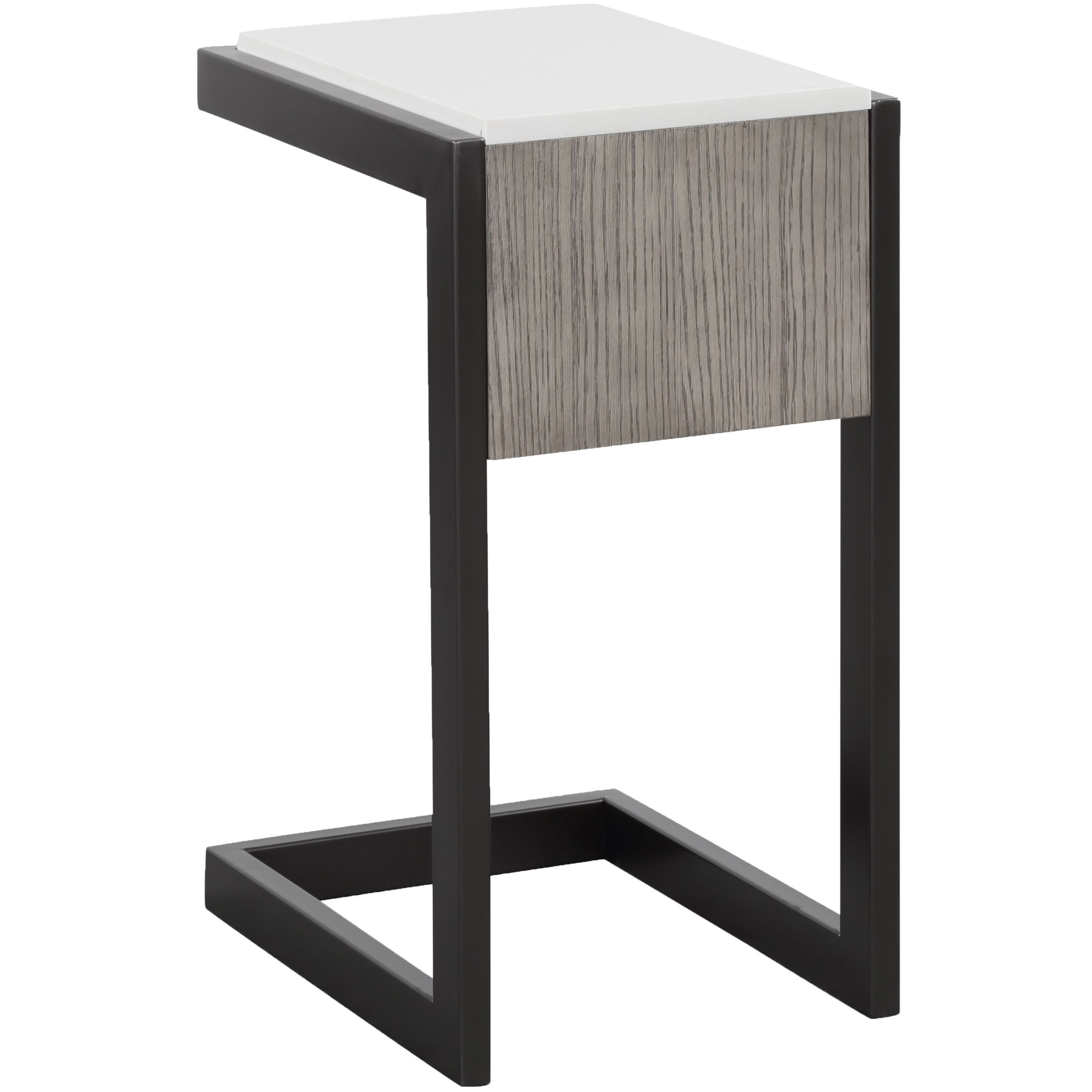 Pure Modern Chairside Table with Quartz Top by Parker House at Zak's Home