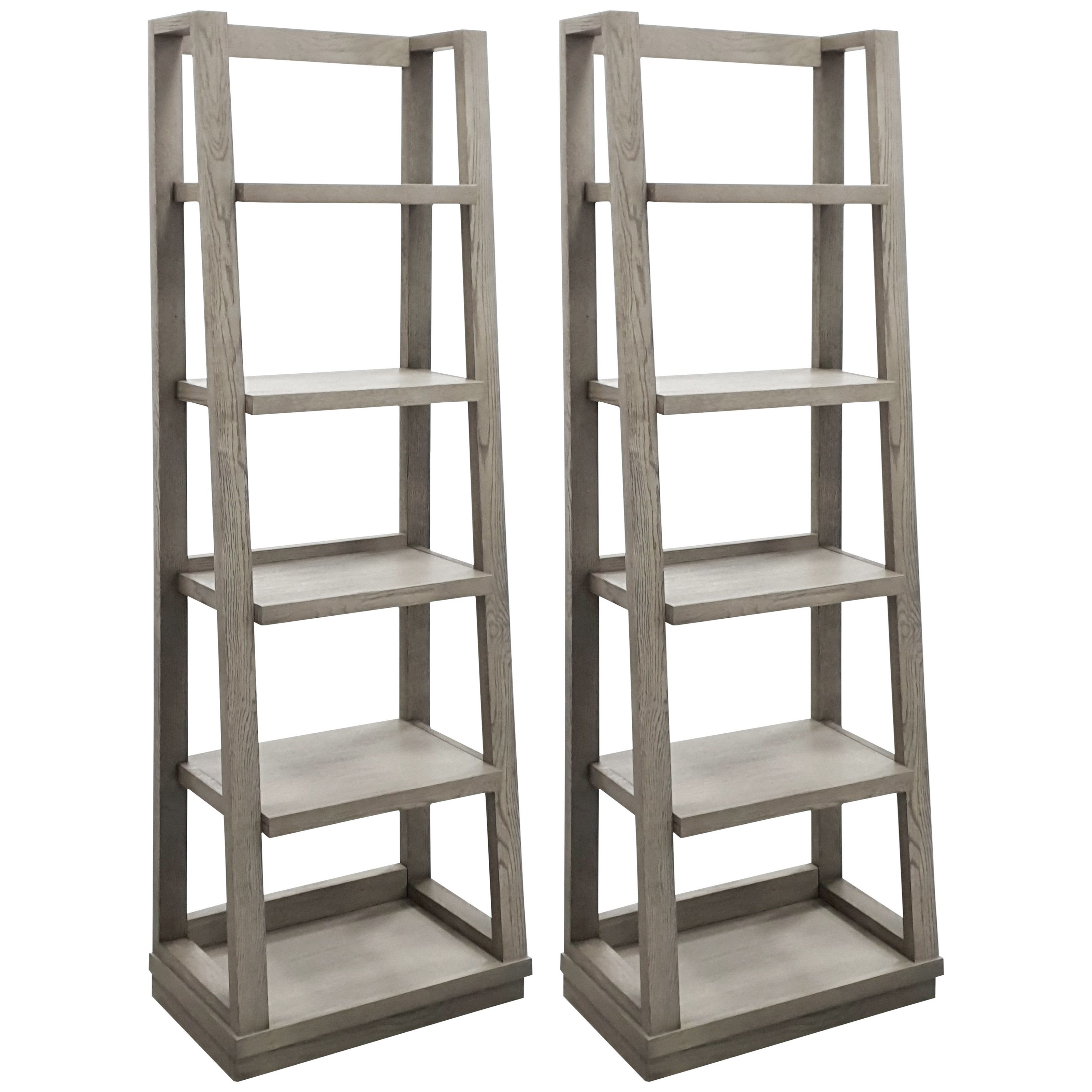 Pure Modern Pair of Angled Bookcase Piers by Parker House at Baer's Furniture