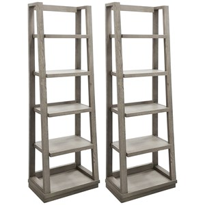 Contemporary Pair of Angled Bookcase Piers
