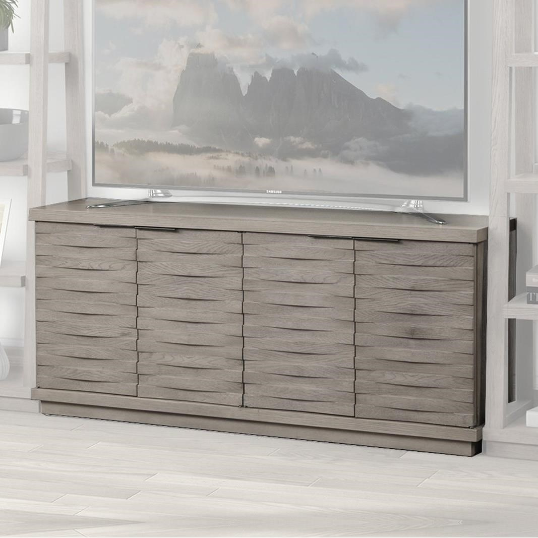 Pure Modern 63in. Angled Door TV Console by Parker House at Baer's Furniture