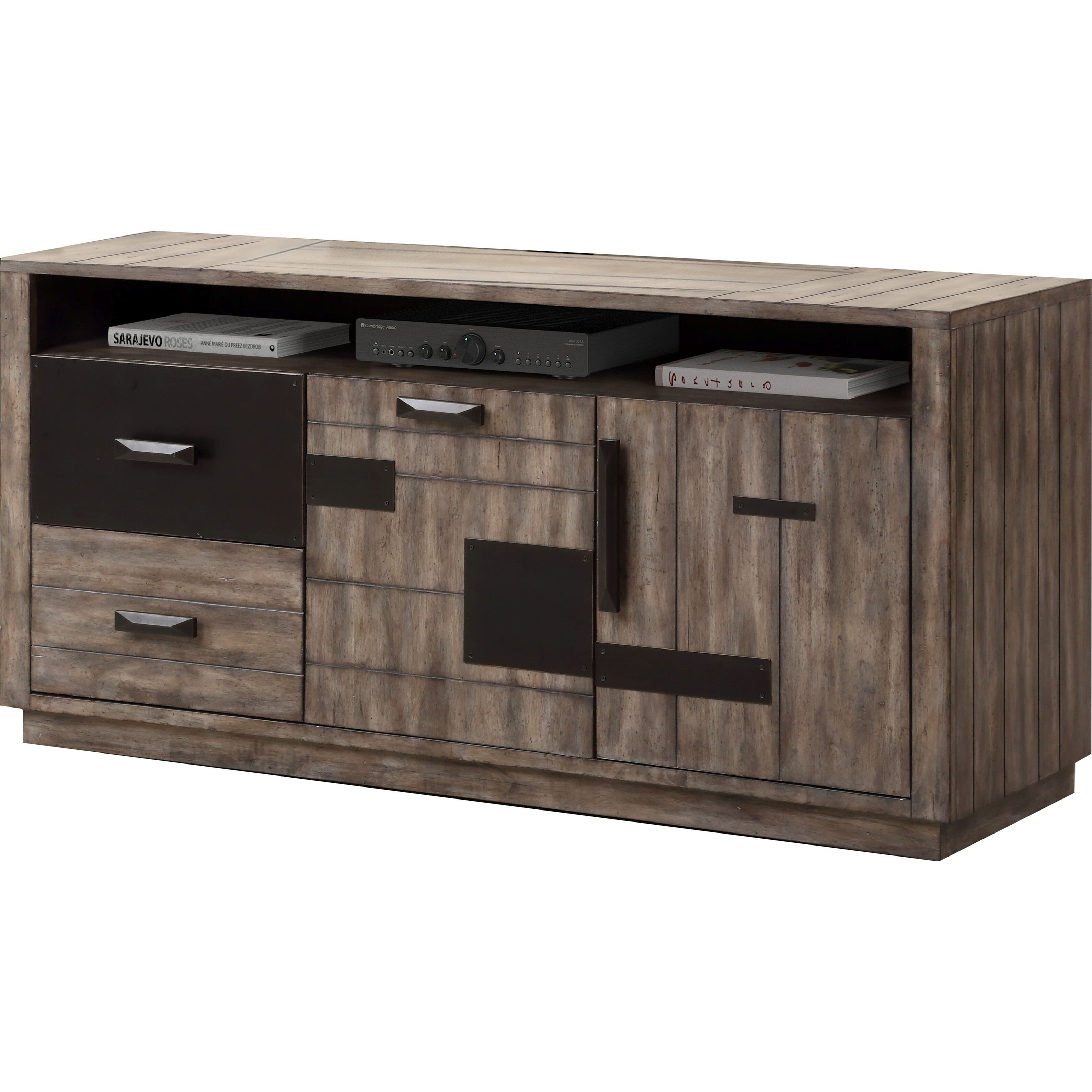 """River Rock 63"""" TV Console by Parker House at Zak's Home"""
