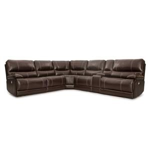 SIX PIECE POWER SECTIONAL