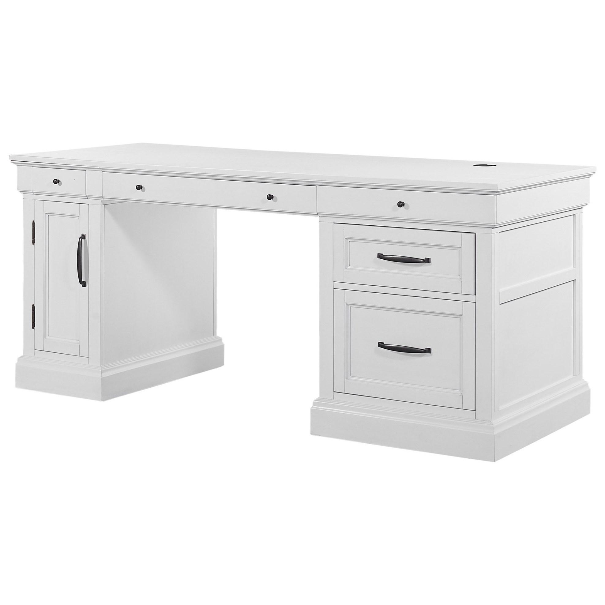 Shoreham Pedestal Desk by Parker House at Bullard Furniture