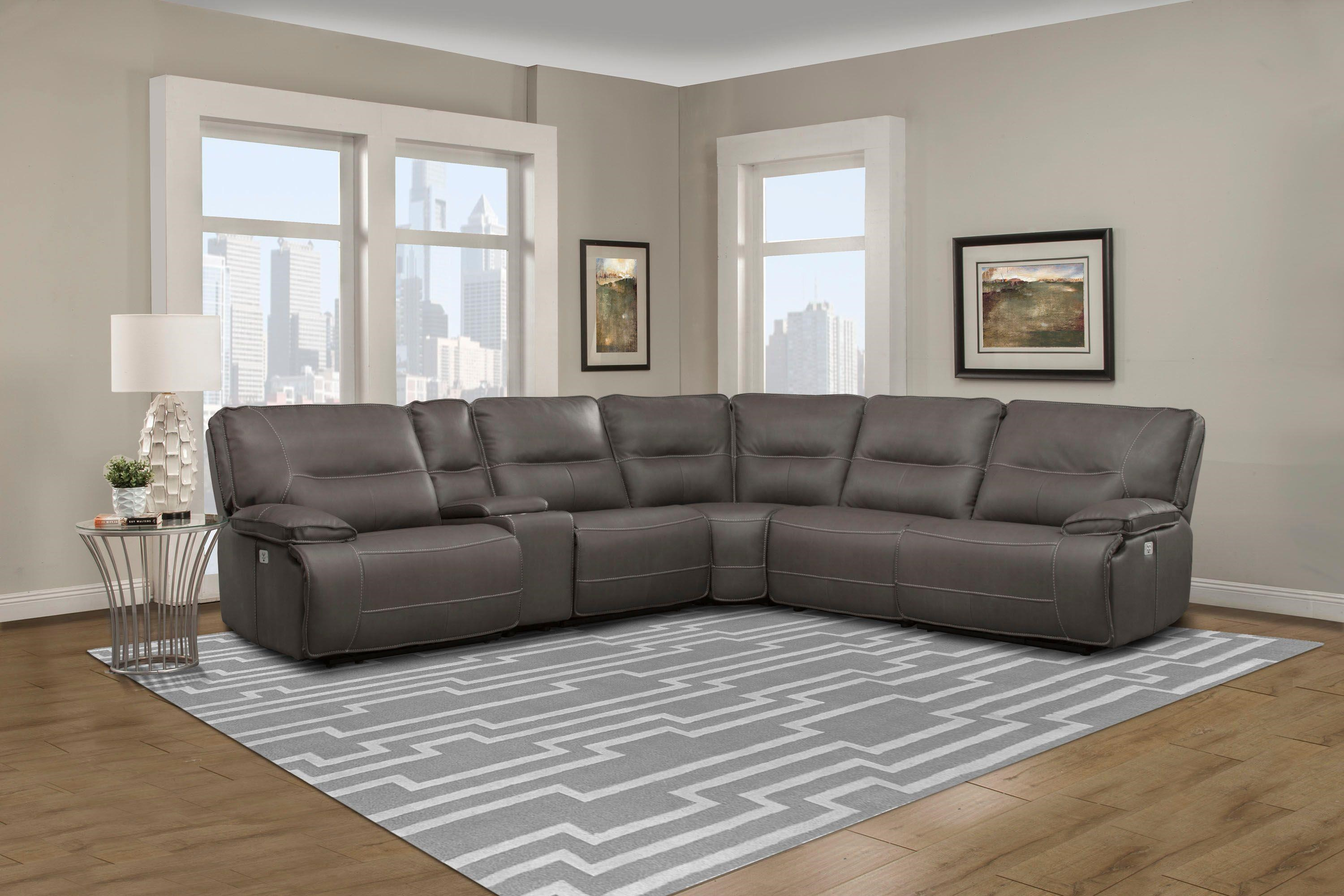 SPARTACUS 6PC POWER RECLINING SECTIONAL SOFA by Parker House at Beck's Furniture