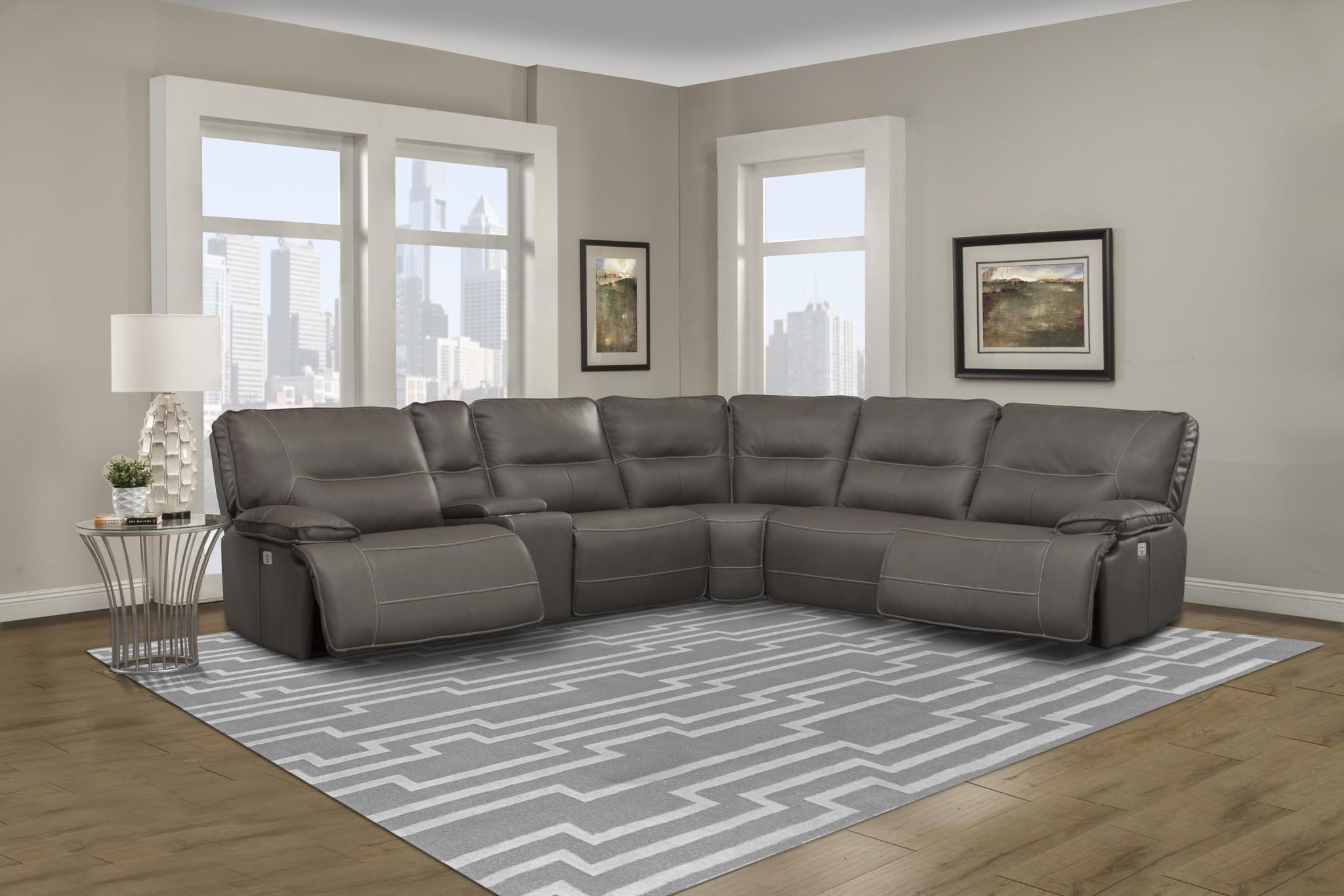 SPARTACUS Parker House Power Reclining Sectional by Parker House at Dream Home Interiors