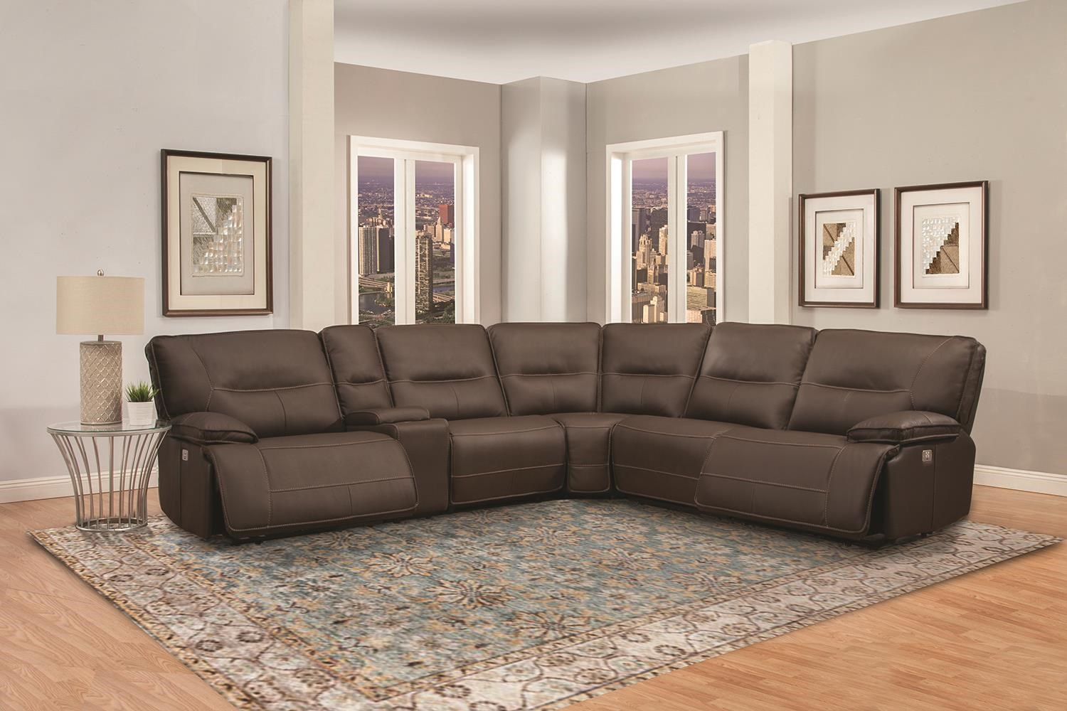 Spartacus 6 PC Power Sectional by Parker House at Johnny Janosik