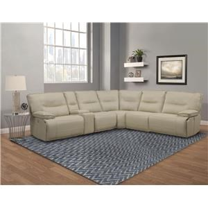 Power Sectional with Powerseat and Power Headrest Controls with USB