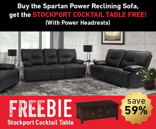 Spartan Spartan Power Sofa with Freebie! by Parker House at Morris Home