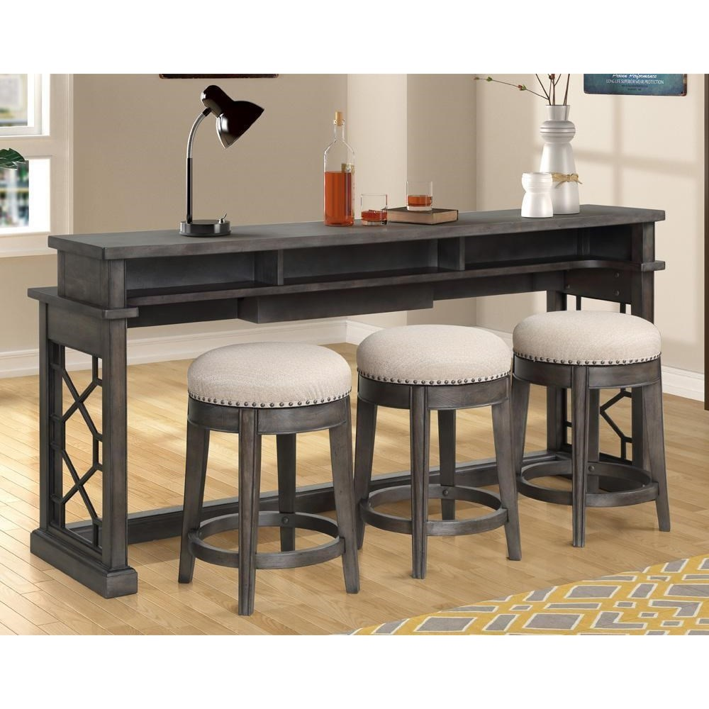 Sundance Everywhere Console with 3 Stools by Parker House at Dream Home Interiors