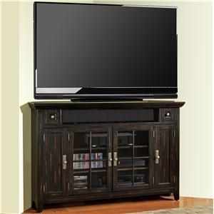 "62"" Corner TV Console with 4 Doors"