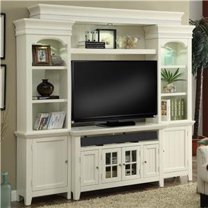 "50"" Console Entertainment Wall with Display Lighting and Shelf Storage"