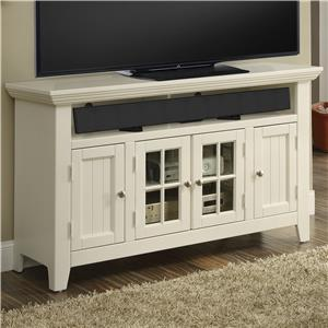 "50"" TV Console with Center Glass Paneled Doors"
