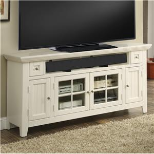 "62"" TV Console with Four Doors and Sound Bar Shelf"