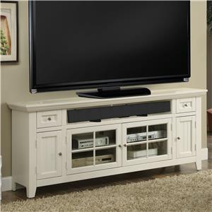 """72"""" TV Console with Glass Pane Center Doors"""