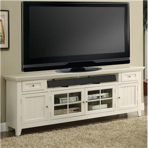 "84"" TV Console with Four Doors and Sound Bar Shelf"
