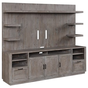 Transitional TV Stand with Hutch