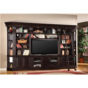 Parker House Venezia Six-Piece Entertainment Library Wall Group