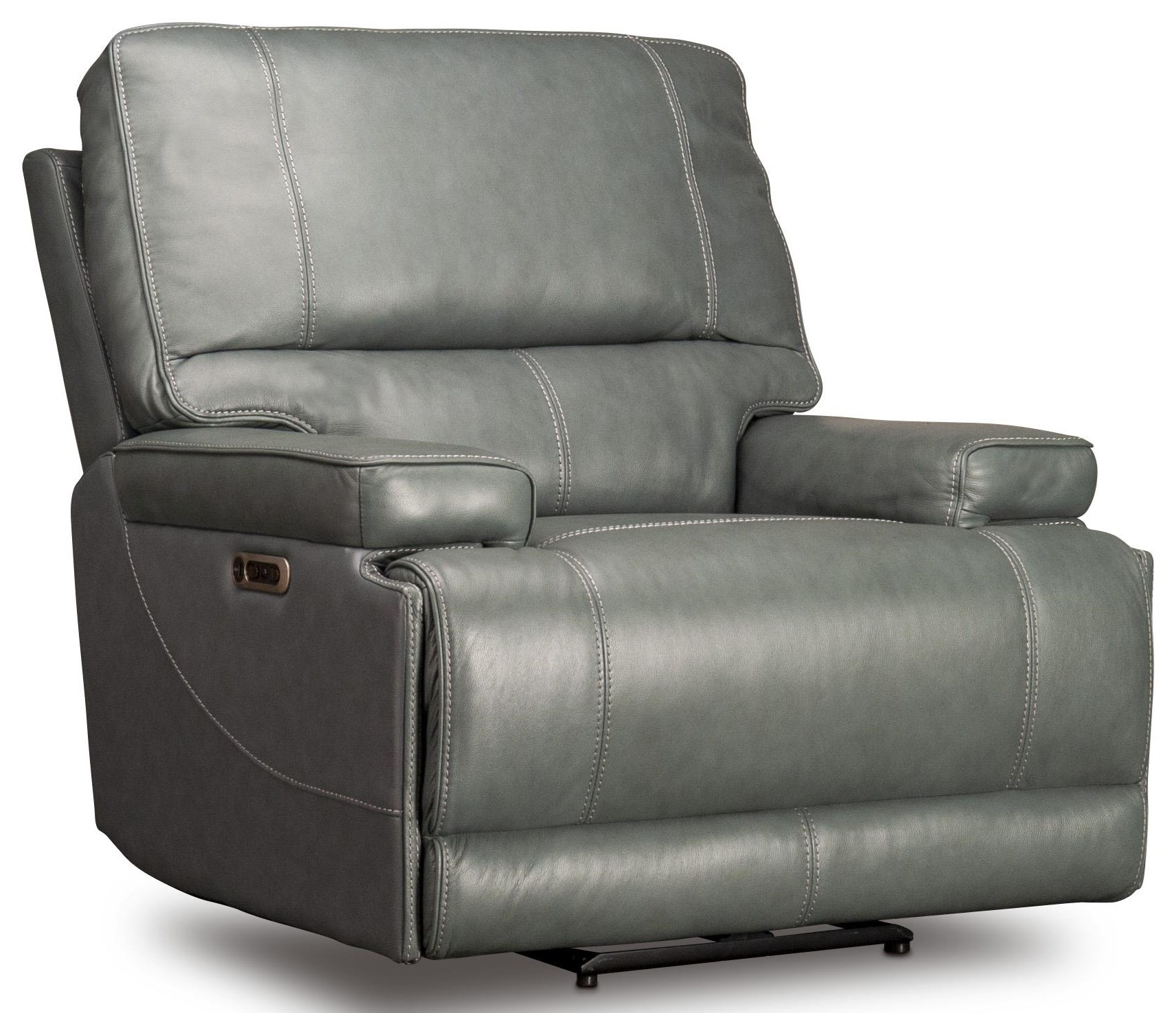 Wade Wade Leather Match Power Recliner by Parker House at Morris Home
