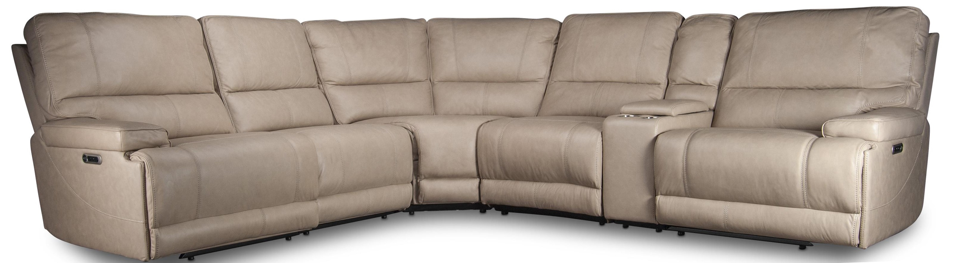 Wade Wade Leather Match Power Sectional by Parker House at Morris Home