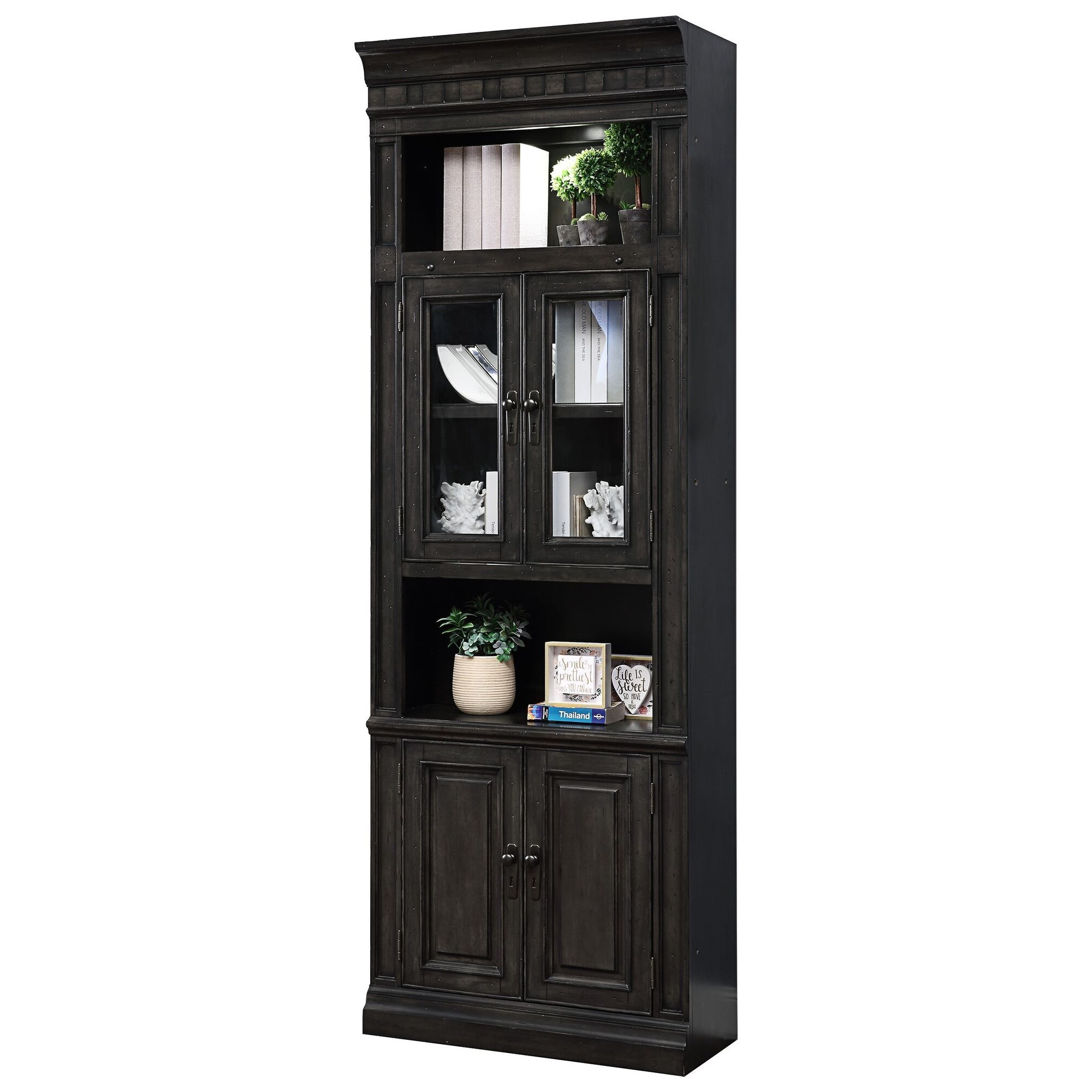 """Washington Heights 32"""" Glass Door Cabinet by Parker House at Zak's Home"""