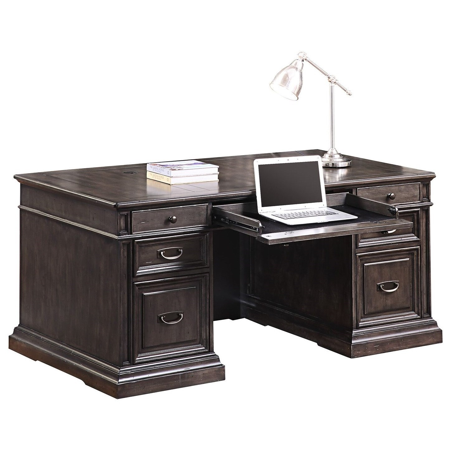 Washington Heights Double Pedestal Executive Desk by Parker House at Westrich Furniture & Appliances