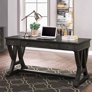 Transitional 3 Drawer Writing Desk
