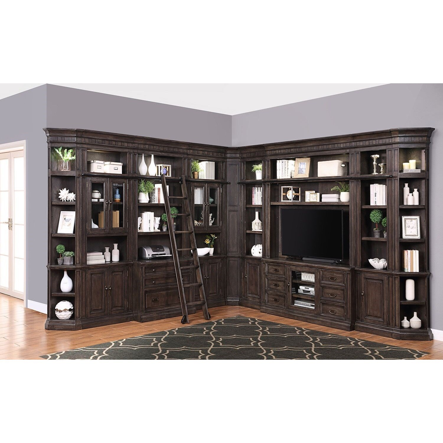 Washington Heights Library Wall Unit by Parker House at Zak's Home